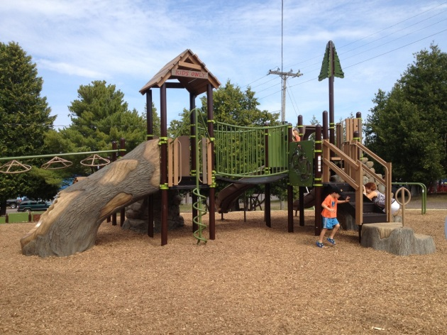 A picture perfect day on the playground!